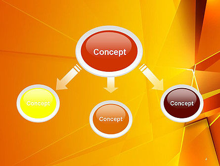 Gold Geometric Abstraction PowerPoint Template Slide 4