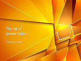Abstract/Textures: Gold Geometric Abstraction PowerPoint Template #14178