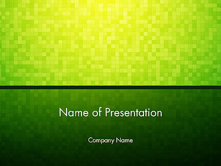 Abstract/Textures: Green Gradient Mosaic PowerPoint Template #14179