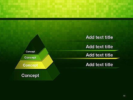 Green Gradient Mosaic PowerPoint Template Slide 10