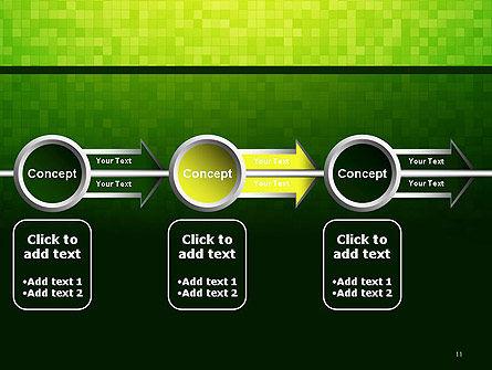 Green Gradient Mosaic PowerPoint Template Slide 11