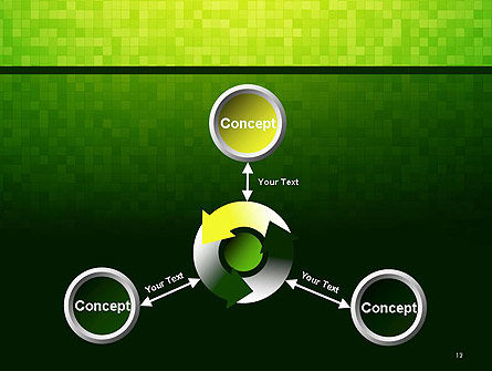 Green Gradient Mosaic PowerPoint Template Slide 12