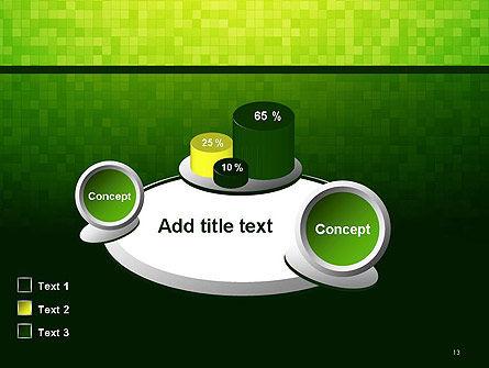 Green Gradient Mosaic PowerPoint Template Slide 13