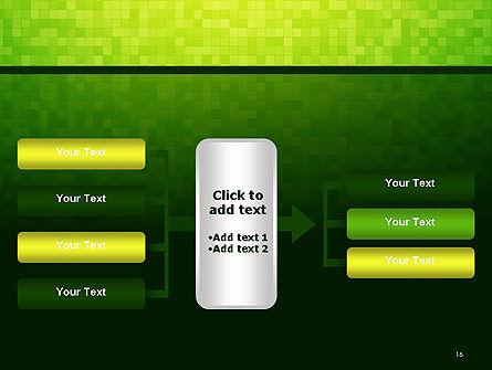 Green Gradient Mosaic PowerPoint Template Slide 16