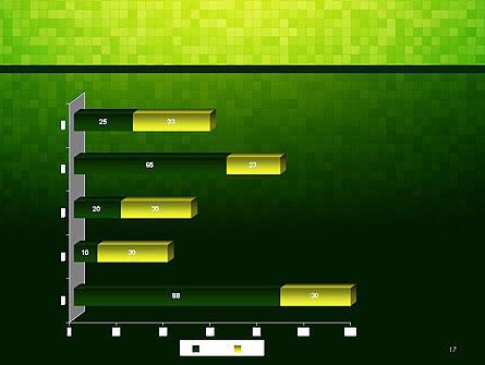 Green Gradient Mosaic PowerPoint Template Slide 17