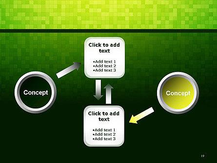Green Gradient Mosaic PowerPoint Template Slide 19