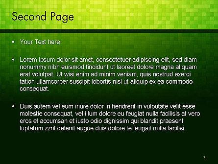 Green Gradient Mosaic PowerPoint Template, Slide 2, 14179, Abstract/Textures — PoweredTemplate.com