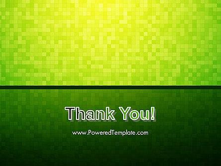 Green Gradient Mosaic PowerPoint Template Slide 20