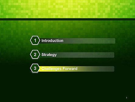 Green Gradient Mosaic PowerPoint Template, Slide 3, 14179, Abstract/Textures — PoweredTemplate.com
