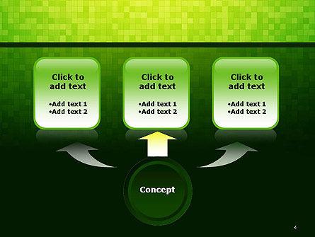 Green Gradient Mosaic PowerPoint Template, Slide 4, 14179, Abstract/Textures — PoweredTemplate.com
