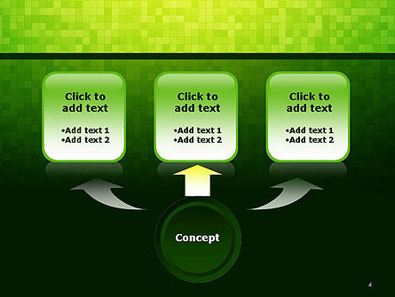 Green Gradient Mosaic PowerPoint Template Slide 4