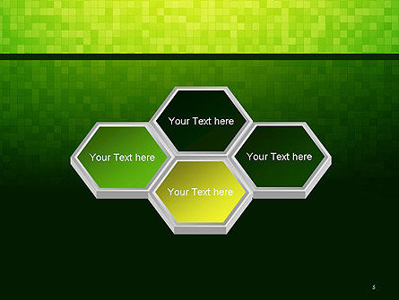 Green Gradient Mosaic PowerPoint Template Slide 5
