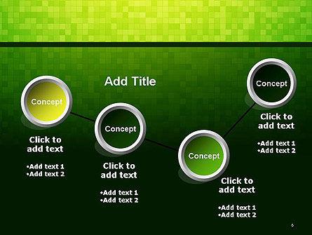 Green Gradient Mosaic PowerPoint Template Slide 6