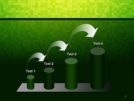 Green Gradient Mosaic PowerPoint Template Slide 7