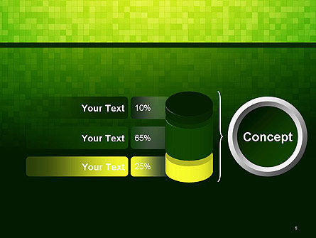 Green Gradient Mosaic PowerPoint Template Slide 8
