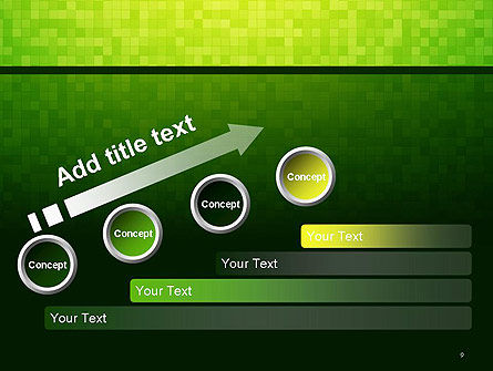 Green Gradient Mosaic PowerPoint Template Slide 9
