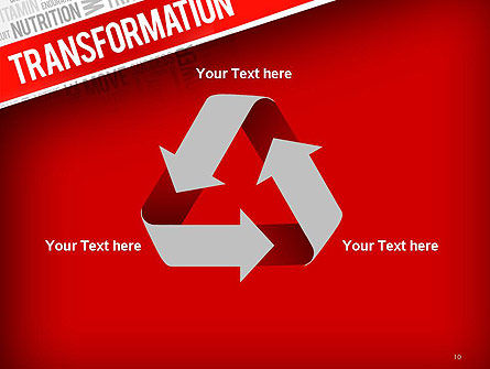 Transformation Word Cloud PowerPoint Template Slide 10