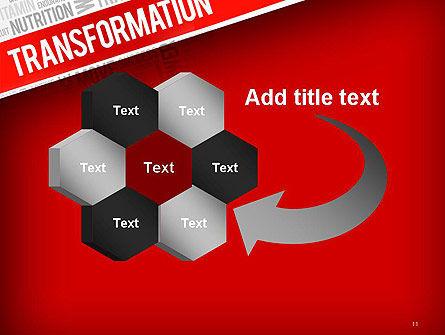 Transformation Word Cloud PowerPoint Template Slide 11