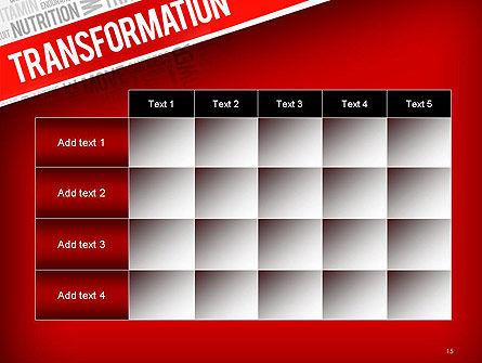 Transformation Word Cloud PowerPoint Template Slide 15
