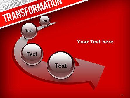Transformation Word Cloud PowerPoint Template Slide 6