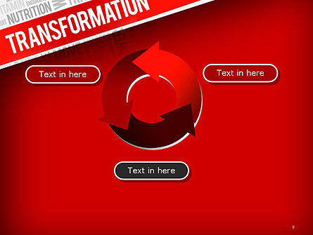 Transformation Word Cloud PowerPoint Template Slide 9