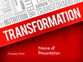 Sports: Transformatie Word Cloud PowerPoint Template #14183