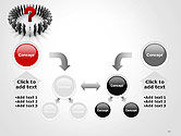 People Standing In Circle with Question Mark in Middle PowerPoint Template#19