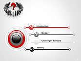 People Standing In Circle with Question Mark in Middle PowerPoint Template#3