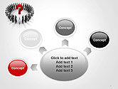 People Standing In Circle with Question Mark in Middle PowerPoint Template#7