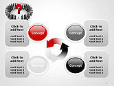 People Standing In Circle with Question Mark in Middle PowerPoint Template#9