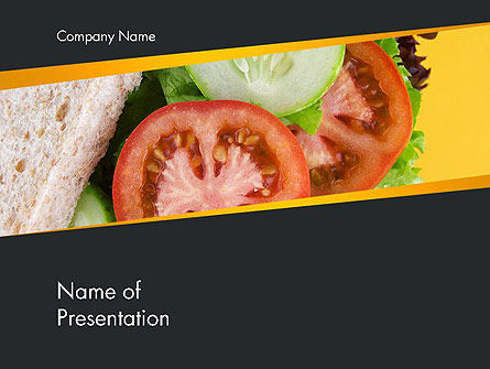 Healthy Snack PowerPoint Template, 14185, Food & Beverage — PoweredTemplate.com