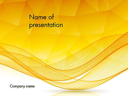 Geometric Polygons and Waves Abstract PowerPoint Template