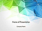 Abstract/Textures: Modello PowerPoint - Triangoli poligonali #14187