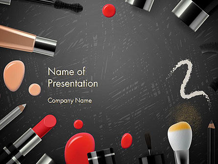 Makeup Mockup PowerPoint Template, 14188, Careers/Industry — PoweredTemplate.com