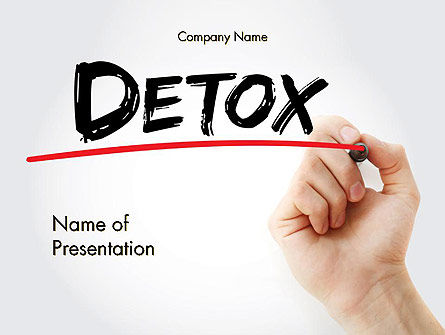 Hand Writing Detox with Marker PowerPoint template