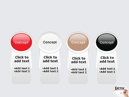 Hand Writing Detox with Marker PowerPoint template Slide 5