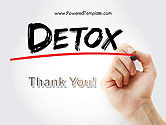 Hand Writing Detox with Marker PowerPoint template#20