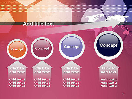 World Map with Hexagons Technology PowerPoint Template Slide 13