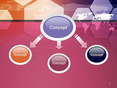 World Map with Hexagons Technology PowerPoint Template Slide 4
