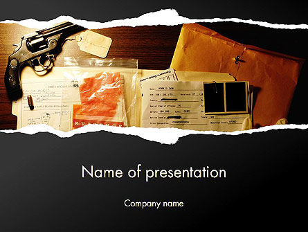 Crime Evidence PowerPoint Template