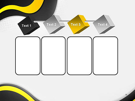 Yellow and Black Waves on Gray Background PowerPoint Template Slide 18