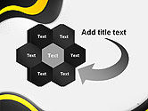 Yellow and Black Waves on Gray Background PowerPoint Template#11
