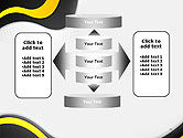 Yellow and Black Waves on Gray Background PowerPoint Template#13