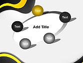 Yellow and Black Waves on Gray Background PowerPoint Template#14