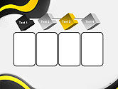 Yellow and Black Waves on Gray Background PowerPoint Template#18