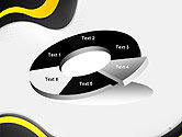 Yellow and Black Waves on Gray Background PowerPoint Template#19