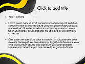 Yellow and Black Waves on Gray Background PowerPoint Template#2