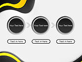 Yellow and Black Waves on Gray Background PowerPoint Template#5