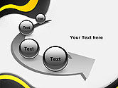 Yellow and Black Waves on Gray Background PowerPoint Template#6