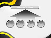 Yellow and Black Waves on Gray Background PowerPoint Template#8